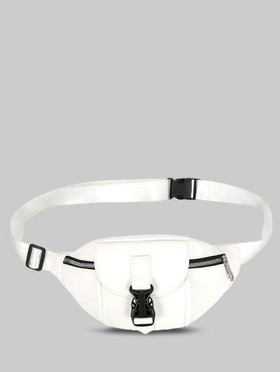 Release Buckle Chest Bag - White