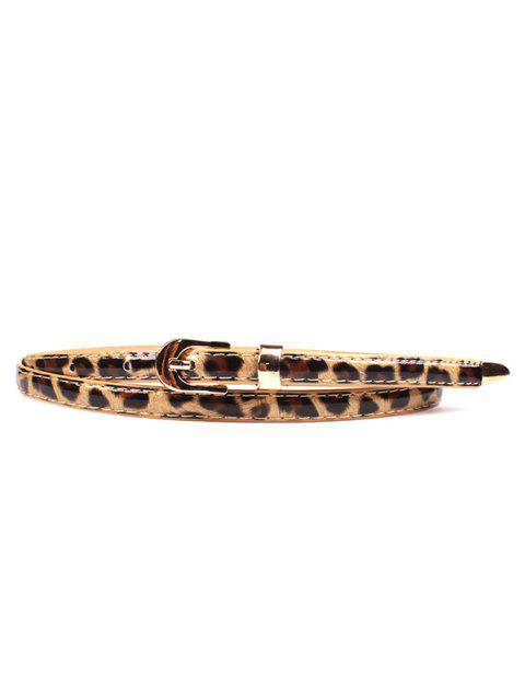 Leoparddruck Slim Gold Schnallengürtel - Leopard  Mobile
