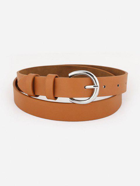 Minimalistischer Silberner Ton-Pin-Schnallengürtel - Tiger Orange  Mobile