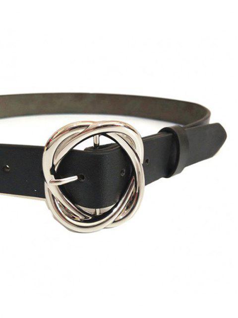 Minimalistischer Goldtonrose-Schnallegürtel - Schwarz  Mobile