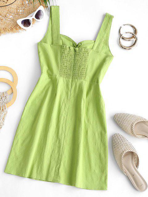 Ärmelloses Kleid mit Schnürung - Grün L Mobile