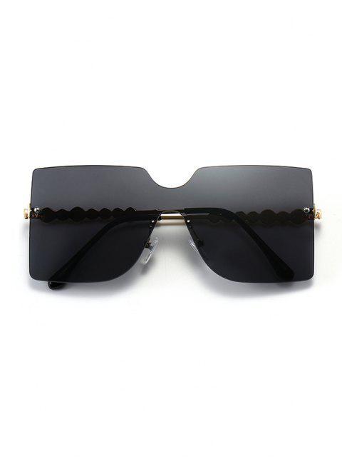 Randlose Sonnenbrille mit Temple - Schwarz  Mobile