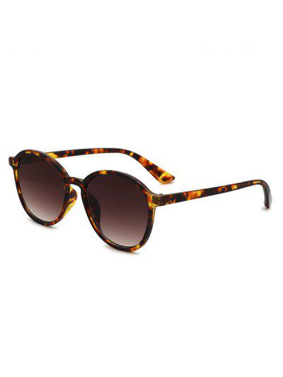 Classic Round Frame Anti UV Sunglasses - Brown