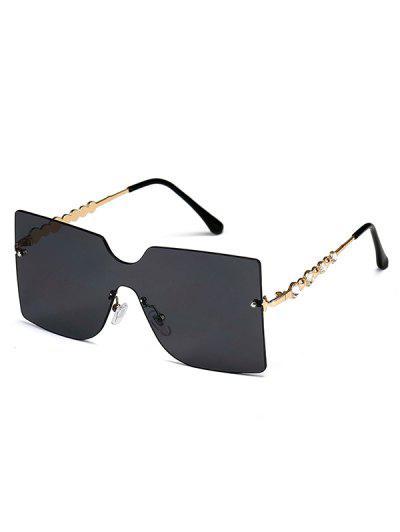 Randlose Sonnenbrille Mit Temple - Schwarz