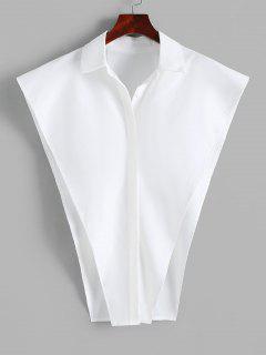 Button Up Cape Shirt - White M