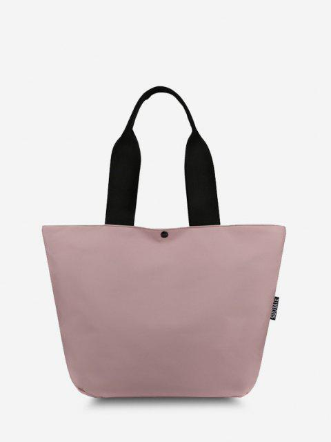 Lässige Nylon Seitentasche Einkaufstasche - Hell-Pink  Mobile