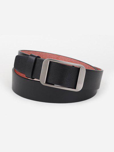Minimalistas De Plata De Tonos Con Cinturón - Negro