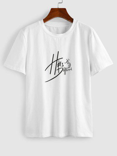 ZAFUL Hits Different Graphic Funny Tee - White M