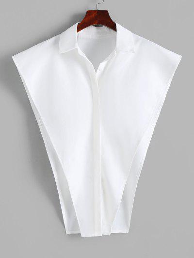 Button Up Cape Shirt - White L