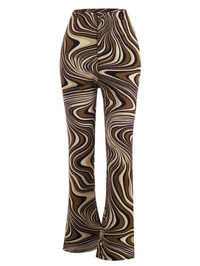 Pantalon Bootcut Abstrait Imprimé - Multi L