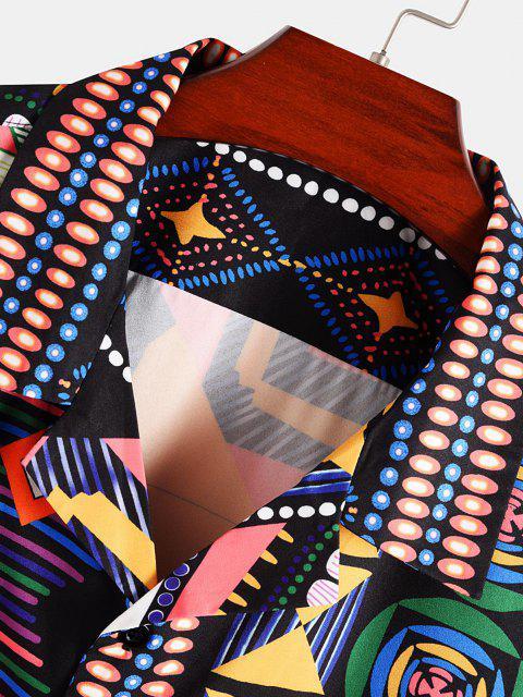 Buntes Tribaldruck Tasche Hemd - Multi XXL Mobile