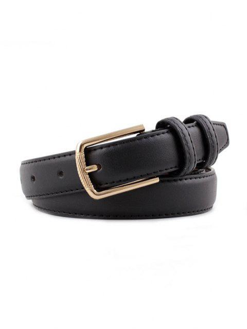 Minimalistischer Goldton-Pin-Schnallengürtel - Schwarz  Mobile