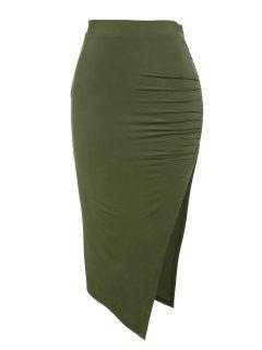 ZAFUL Falda Ajustado Con Thong - Verde Oscuro Xl