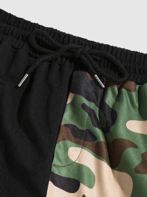 ZAFUL Buchstaben Hälfte Camouflagedruck Sport Hosen - Schwarz XXL Mobile
