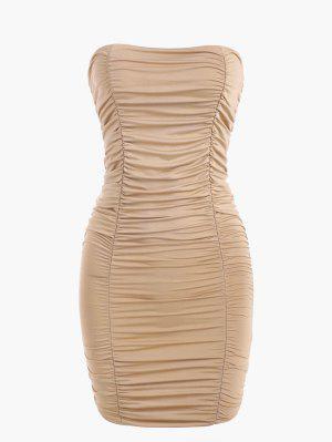 zaful Double-layered Jersey Ruched Slinky Tube Dress