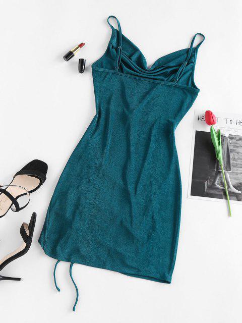 ZAFUL Vestido de Tirante Fino con Pliegues - Verde M Mobile