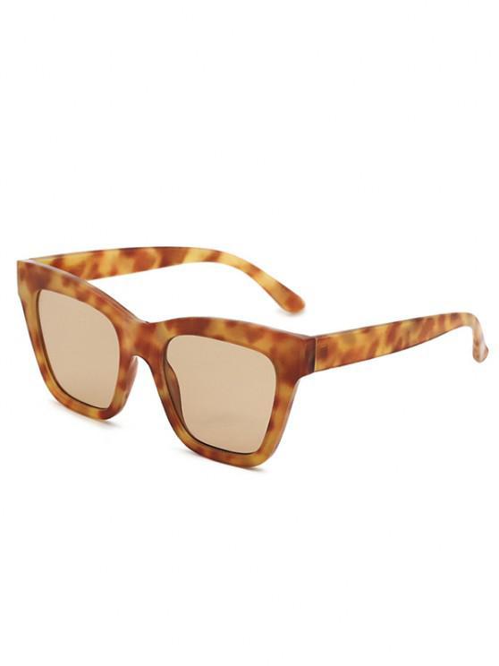 lady Square Catty Eye Tortoiseshell Sunglasses - SUNRISE ORANGE