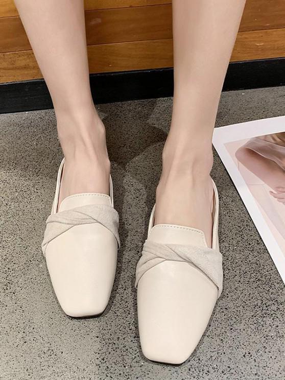Twist Flat Mules Sandals - اللون البيج الاتحاد الأوروبي 37