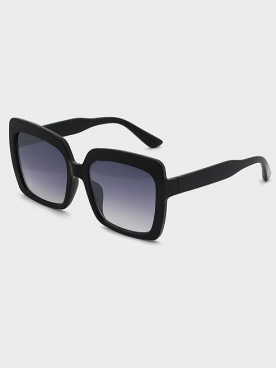 women's Oversized Square Ombre Lens Sunglasses - BLACK