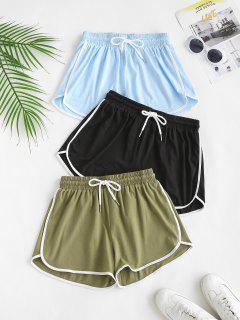 Shorts De Playa Con Cordón Con Estampado De Delfín De 3 Piezas - Multicolor S