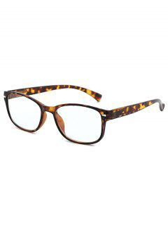 Anti Blue-ray Tortoise Pattern Glasses - Tiger Orange