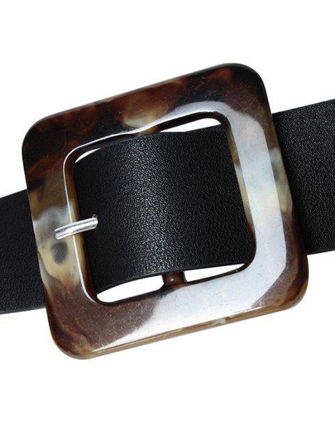 PU-Square-Schnallegürtel - Schwarz  Mobile
