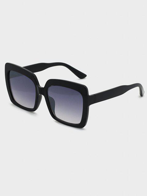 women's Oversized Square Ombre Lens Sunglasses - BLACK  Mobile