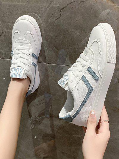 Zapatos De Deporte De Color Contraste Con Cordones - Azul Eu 37