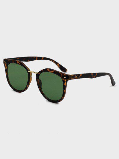 Round Metal Bar Sunglasses - Deep Coffee