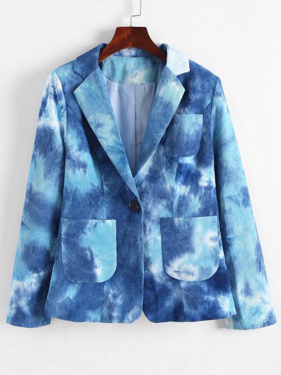 hot Pockets Tie Dye Corduroy Blazer - BLUE M