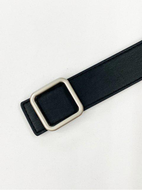 Quadratischer Gürtel mit Schnalle - Schwarz  Mobile