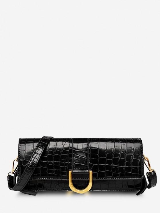 Cover Narrow Shoulder Bag - أسود