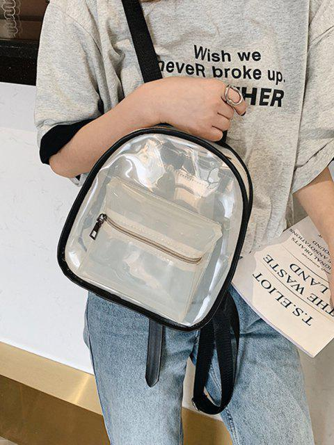 Transparenter Rucksack mit Kontraststreifen - Weiß  Mobile