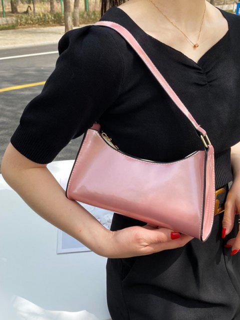 Kurze Patentleder-Schultertasche - Rosa  Mobile