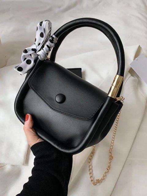 Kette Tupfen Schal Handtasche - Schwarz  Mobile
