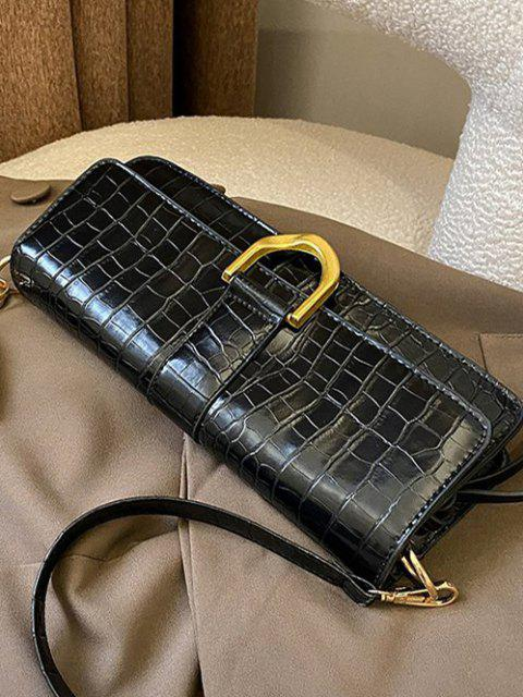 Decken Sie Schmale Umhängetasche Ab - Schwarz  Mobile