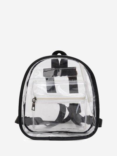 Contrast Trim Transparent Backpack - Transparent