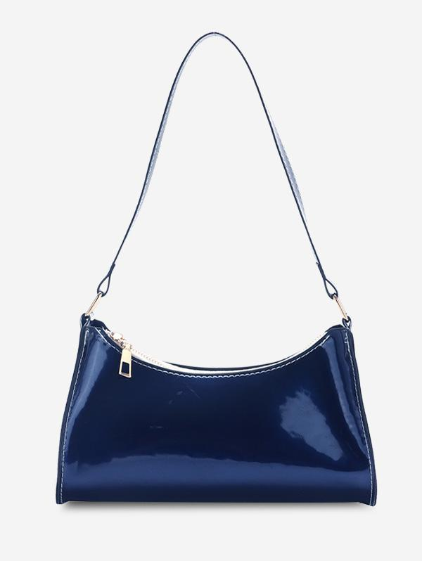 Brief Patent Leather Shoulder Bag
