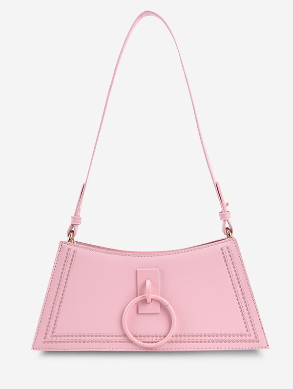 O Ring Embroidery Shoulder Bag