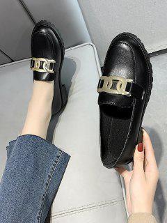 Zapatos De Tacón Grueso Con Cadena - Grafito Negro Eu 39