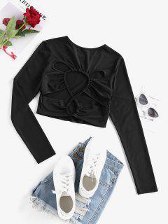 ZAFUL Camiseta Corta Con Corte Alto - Negro S