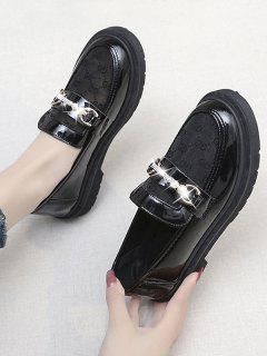 Chaussures Rétro En Fausse Perle - Noir Graphite Eu 40