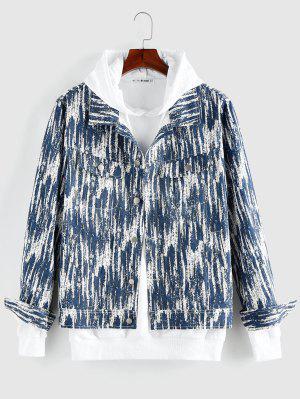 zaful ZAFUL Tie Dye Print Button Up Jacket