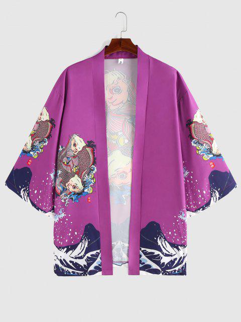 ZAFUL Koi Fisch Meer Welledruck Kimono - Eintracht S Mobile