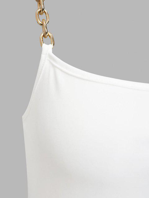 ZAFUL Vestido de Grueso con Tirantes de Cadena - Blanco M Mobile