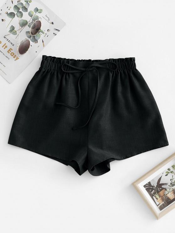 ZAFUL Pull On Paperbag Shorts - أسود M