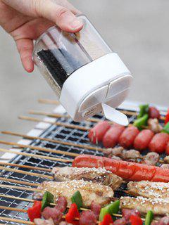4 Compartment Portable Barbecue Transparent Seasoning Box - White