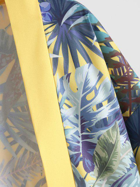Tropischer Pflanzen Urlaub Kimono - Sonne Gelb L Mobile