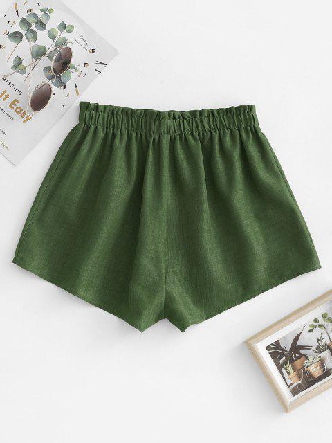 outfits ZAFUL Pull On Paperbag Shorts - DEEP GREEN XL Mobile