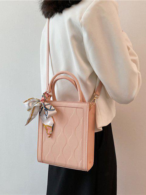 Kastige Schal mit Gebundenem Griff - Helles Rosa  Mobile